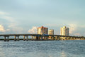 Big Carlos Pass Bridge in Fort Myers Beach, Florida, USA Royalty Free Stock Photo