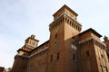 Big castle as landmark in Ferrara, Italy Stock Photo