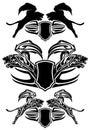 Big cat vector emblems