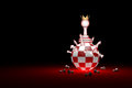 Big changes. The new ruler. Elite Society chess metaphor. 3D r
