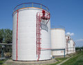 Big chemical tank petrol . Stock Images