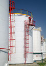 Big chemical tank petrol . Royalty Free Stock Image