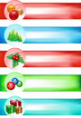 Big Christmas banner set Royalty Free Stock Image