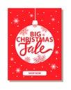 Big Christmas Sale Banner with Decorative Ball