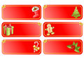 Big christmas set of banners Stock Photography