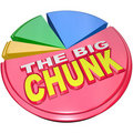 The Big Chunk - Largest Portion of Pie Chart Share Stock Photography