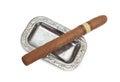 Big cigar in ashtray