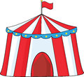 Big circus tent illustration isolated on white Stock Image