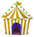 A big circus tent illustration of on white background Royalty Free Stock Photography