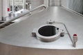 Big cistern with hatch for beer in ochakovo moscow may factory on may moscow russia company has enterprises Stock Photo