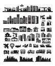 Big city icons Stock Photography