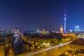 Big City Lights - Night Sky over Berlin Royalty Free Stock Photo