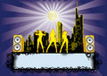 Big City Party Disco Flyer Royalty Free Stock Photo