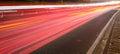 Big City Road Car Lights At Ni...