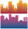 Big city skyline urban vector illustration Stock Image