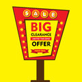 Big clearance offer sale design Royalty Free Stock Photo