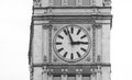 Big clock on a building on a street of Chicago Downtown Royalty Free Stock Photo