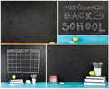 Big collection of `Back to school` concept for your text, design. Royalty Free Stock Photo