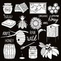Big collection of beekeeping symbols