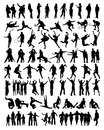 Collection of people silhouettes Royalty Free Stock Photo