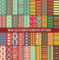 Big collection of seamless colorful retro patterns