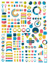 Big collections of infographics flat design elements vector illustration Stock Photography