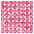 Big color auto icons set created for mobile web and applications Stock Image