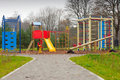 Big colorful children playground equipment Royalty Free Stock Photo