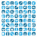 Big colorful medical icons set created mobile web applications Stock Image