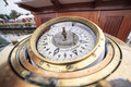 Big compass on a ship Royalty Free Stock Photo