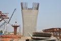 Big concrete poles construction Royalty Free Stock Photo