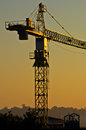 Big construction crane on resiodential construction site in crowded city area belgrade serbia Royalty Free Stock Photography