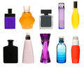 Big cosmetic bottles set Stock Image