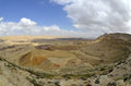 The big crater in negev desert israel national trail on edge of Stock Image