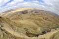 The big crater in negev desert israel national trail on edge of Stock Photos