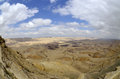 The big crater in negev desert panoramic landscape of Royalty Free Stock Photo