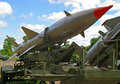 Big cruise missile launcher Stock Photo