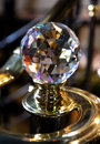 Big crystal ball home decorative detail Royalty Free Stock Photography