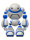Big Cute Robot Standing Guard Stock Images
