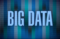 Big data binary illustration design dark color background Royalty Free Stock Photo