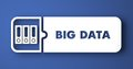 Big Data on Blue in Flat Design Style. Royalty Free Stock Photos