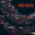 Big data circular visualization. Futuristic infographic. Information aesthetic design. Visual data complexity. Royalty Free Stock Photo