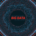 Big data circular visualization. Futuristic infographic. Information aesthetic design. Visual data complexity. Royalty Free Stock Photo
