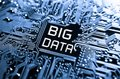 Big data concept circuit board with word Stock Photography