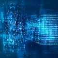 Big Data concept. Digital information visualisation. Analysis of Information Machine Learning Algorithms. Royalty Free Stock Photo