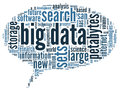 Big data concept in word cloud tag on black background Stock Images
