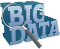Big data find information technology magnifying glass search for Stock Photo