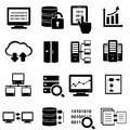 Big data icon set and technology Stock Image