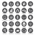 Big data icons, data management buttons Royalty Free Stock Photography
