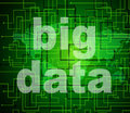 Big data indicates world wide web and network showing website Royalty Free Stock Photo